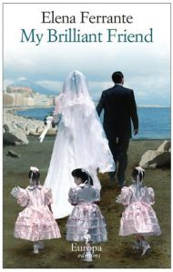 Book cover showing a bride and groom from behind, walking towards the sea